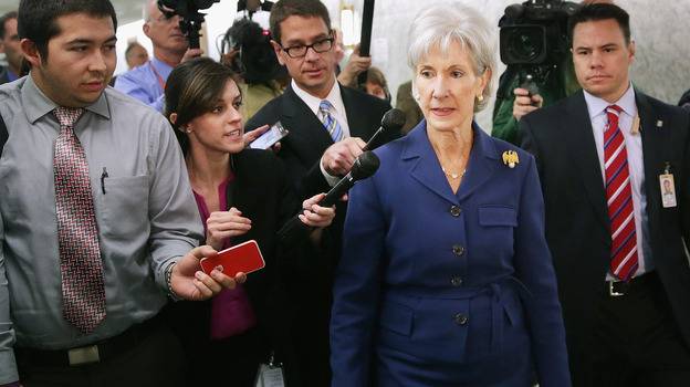 Health and Human Services Secretary Kathleen Sebelius issued a report Wednesday revealing that 106,185 Americans selected a health plan in the new marketplace from Oct. 1 to Nov. 2. (Getty Images)