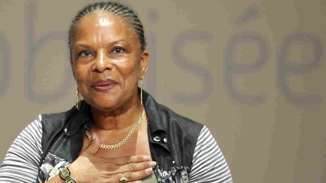 "French Justice Minister Christiane Taubira has been the object of several racist taunts since she defended the government's gay marriage bill in parliament this spring. She is shown here at the Socialist Party's ""Universite d'ete"" in La Rochelle, in August."