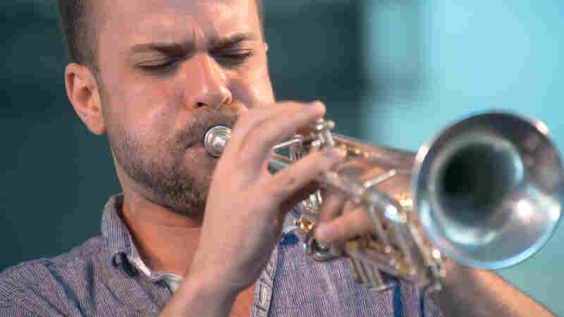 Amir ElSaffar performs at the 2013 Newport Jazz Festival.