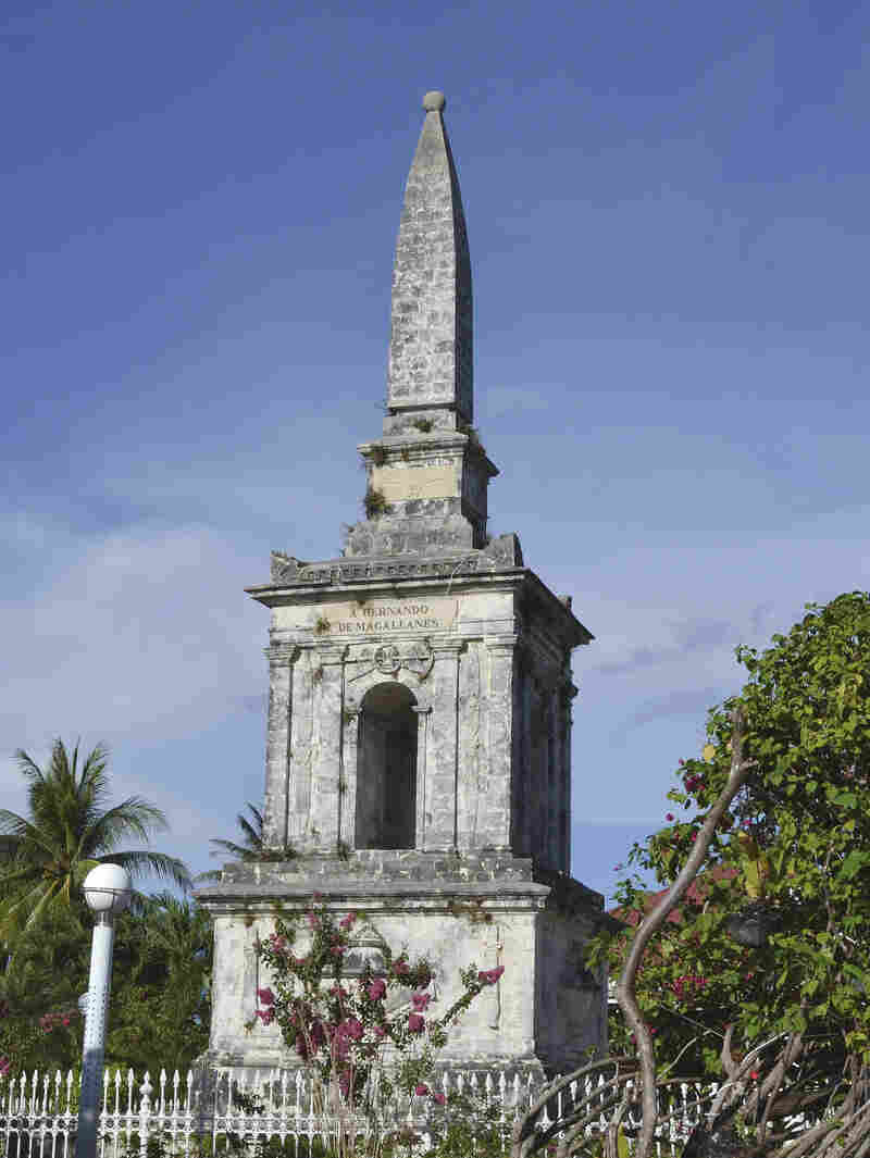 This monument marks the spot where explorer Ferdinand Magellan was killed on Mactan Island in 1521. Shortly before his death, Magellan landed in the Philippines near Tacloban as part of his around-the-world journey, which members of his crew completed after his death.