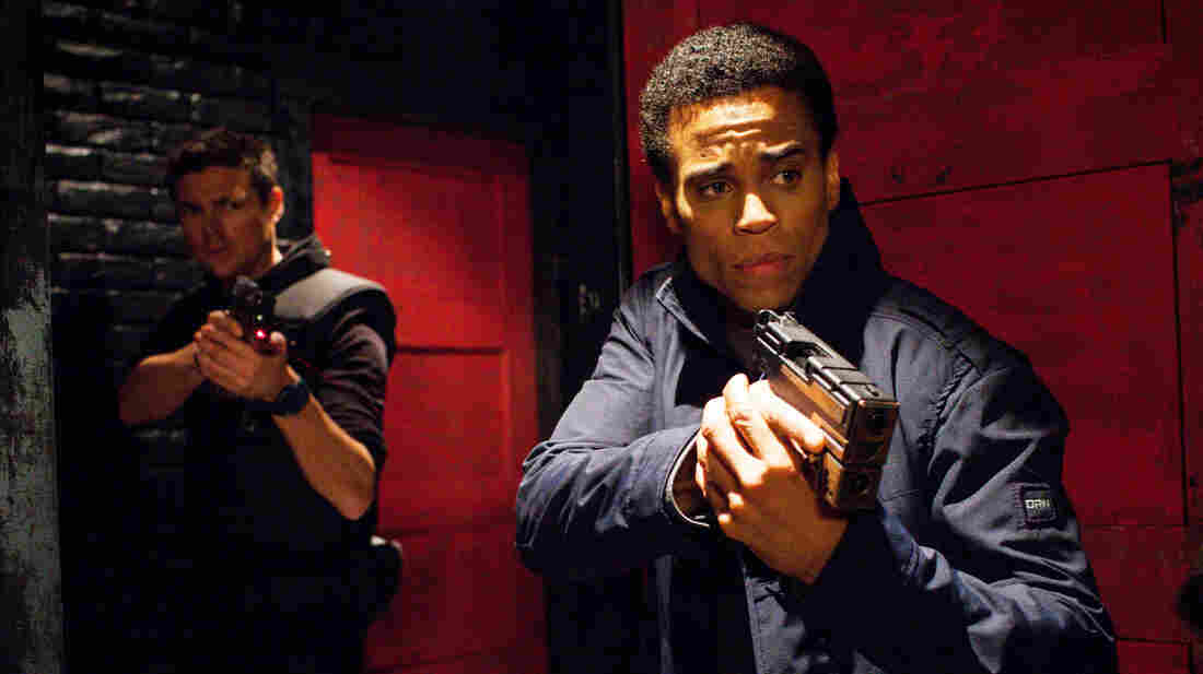 In this Fox show Almost Human, Karl Urban (left) plays a human cop partnered with an android, played by Michael Ealy.