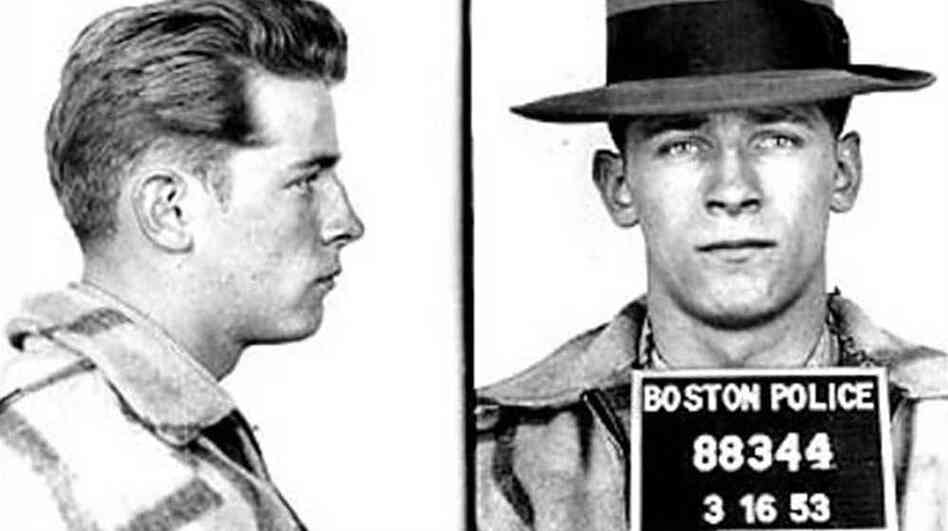 A 1953 mug shot of Jame