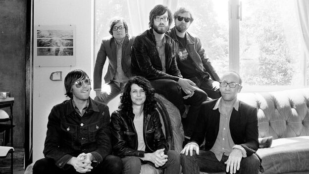 Lead singer Will Sheff (above center) and Okkervil River. (Courtesy of the artist)