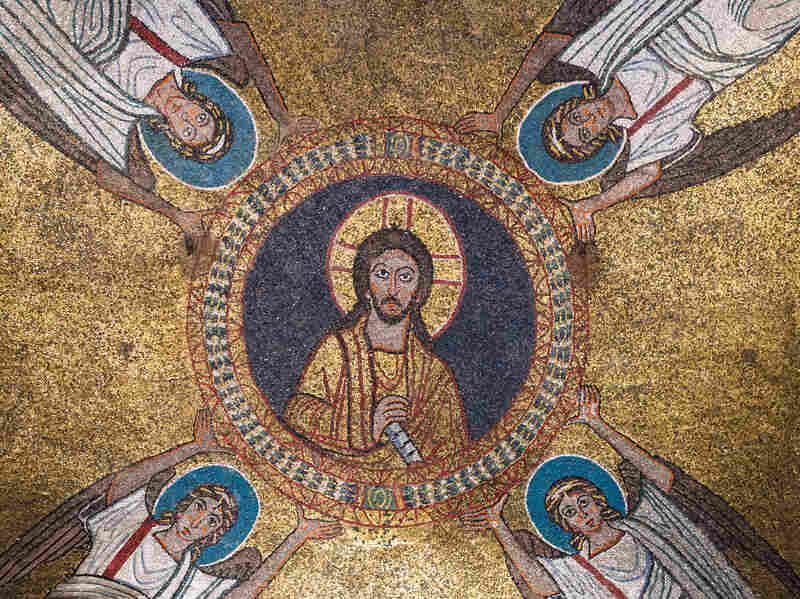 Rome's St. Zeno chapel was built by Pope St. Paschal I in honor of his mother. The ceiling, a gold mosaic, was intended as an interpretation of heaven.