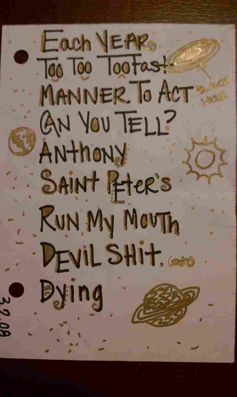 """Ra Ra Riot at Funk 'n Waffles (Syracuse, NY), Mar. 4, 2008.""""They apparently recycled the setlist from their 3/2/08 show."""" - Travis B."""