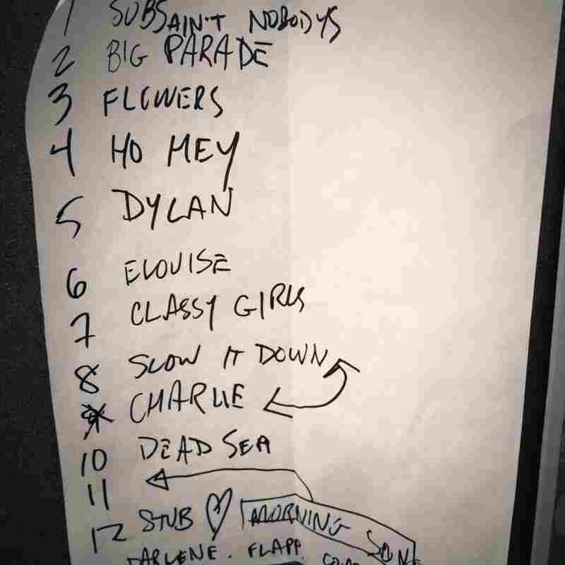 "The Lumineers at the Magic Bag (Ferndale, MI), Jun. 9, 2012.""Before they were headlining festivals, [The Lumineers'] Neyla Pekarek gave me this handwritten setlist."" - @taylorhornecker"