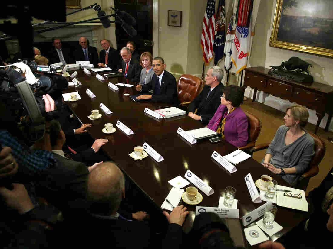 President Obama met at the White House with CEOs from across the health insurance industry on Friday. Insurers, he says, will be allowed to renew for one more year health policies that don't meet the new national standards set by the Affordable Care Act.