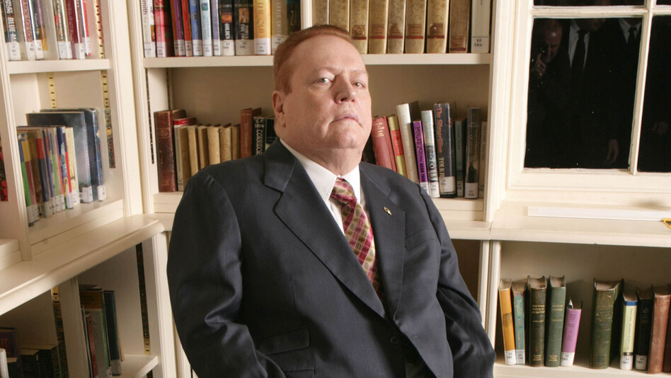 "Larry Flynt is speaking out to save the life of the man who shot and paralyzed him in 1978. ""I just don't think that government should be in the business of killing people,"" he says. (Alpha /Landov)"