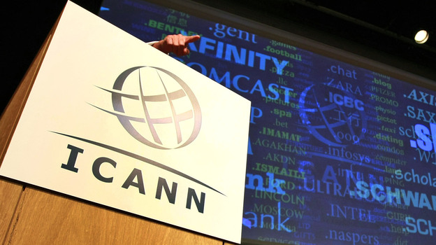 Internet Corporation for Assigned Names and Numbers, ICANN, president and chief executive Rod Beckstrom, speaks on expanding the number of domain name suffixes during a press conference in London in 2012. (AP)