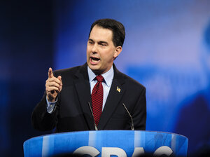 Wisconsin Gov. Scott Walker speaks at the Conservative Political Action Conference in March.