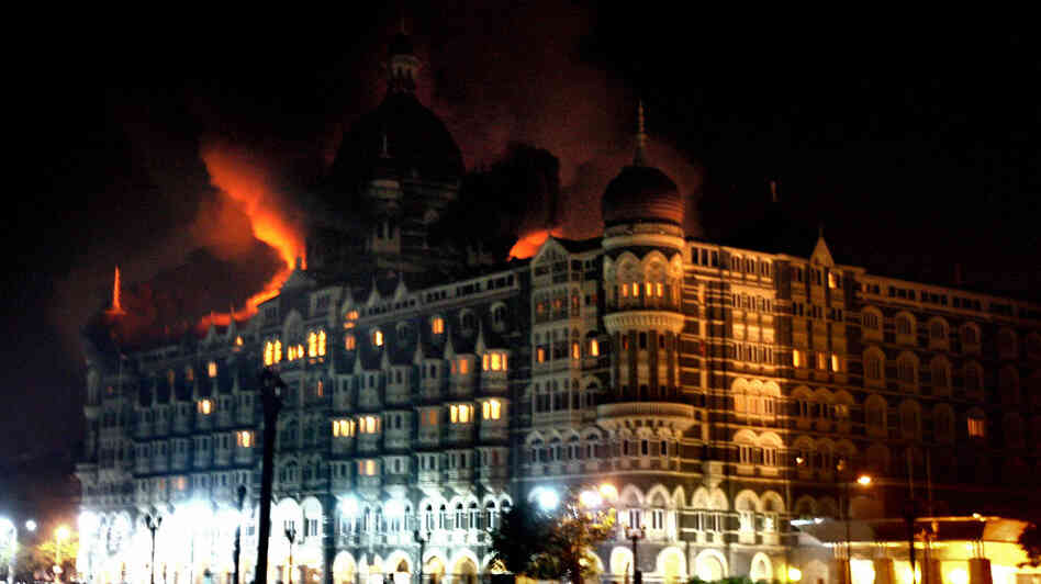 The Taj Mahal Palace hotel on the night of the Mumbai terrorist attacks in 2008. Nearly 80 people were killed and an estimated 200 to 350 injured across the city that night. The Siege chronicles the events in the hotel.