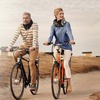 """No more helmet hair: Hovding's """"invisible"""" helmet is an air bag tucked away in a collar that gets fastened around a cyclist's neck. It's aimed at urban cyclists and priced at $535."""