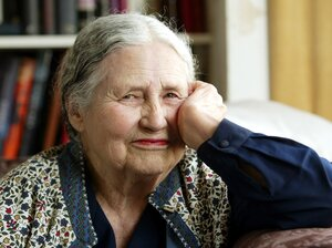 "Doris Lessing, pictured here in 2006, once refused to allow the queen to declare her a dame of the British Empire, because — as the author put it — ""There is no British Empire."""