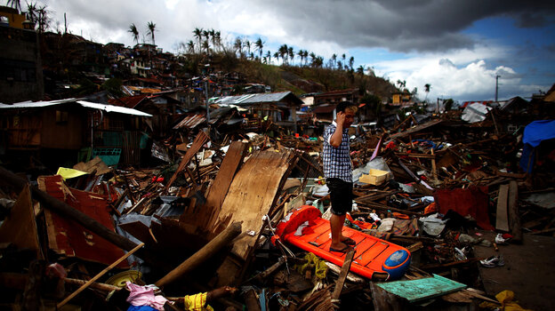 The wreckage in Tacloban, Philippi