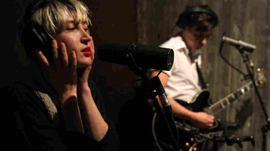 Leah Fay and Peter Dreimanis of July Talk.