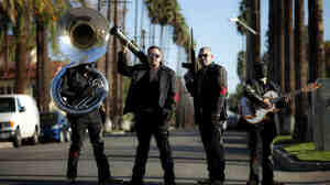 In Narco Cultura, director and photojournalist Shaul Schwarz interrogates the collision of pop culture and Mexico's drug cartels — as personified by bands like Los Bukanas de Culiacan (above), who perform narcocorridos, or songs glorifying the drug trade.