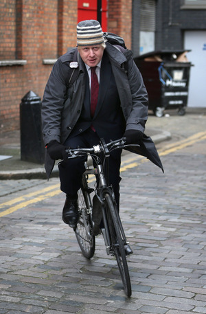 London Mayor Boris Johnson (shown last year in London) has angered cyclists by suggesting that cyclists should be more careful, in response to recent deaths on London streets. He also says he won't be bullied into wearing a helmet.