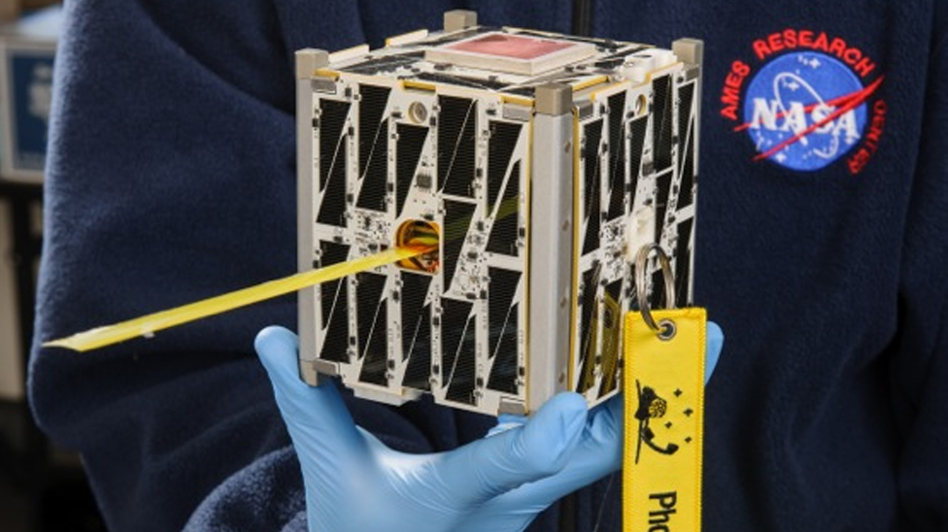 NASA's PhoneSat, a 4-by-4-inch CubeSat satellite, will use an Android smartphone as its motherboard. It was among the 29 satellites launched Tuesday from Wallops Island, Va. Another miniature satellite, developed by high school students, also was on board.