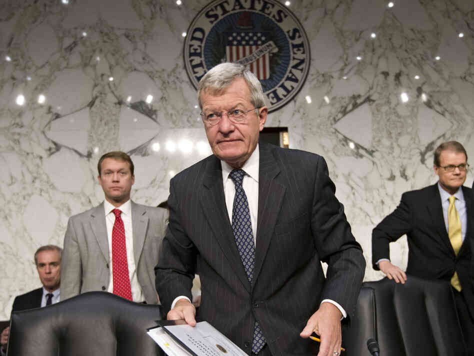 Senate Finance Committee Chairman Max Baucus, D-Mont., arrives for a hearing with Treasury Secretary Jacob Lew on Capitol Hill last month.