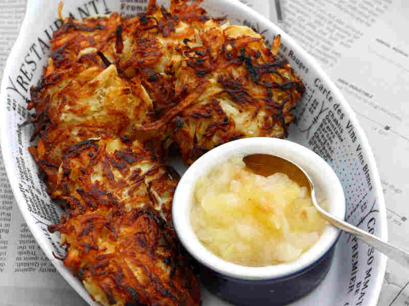 Celery Root and Potato Latkes