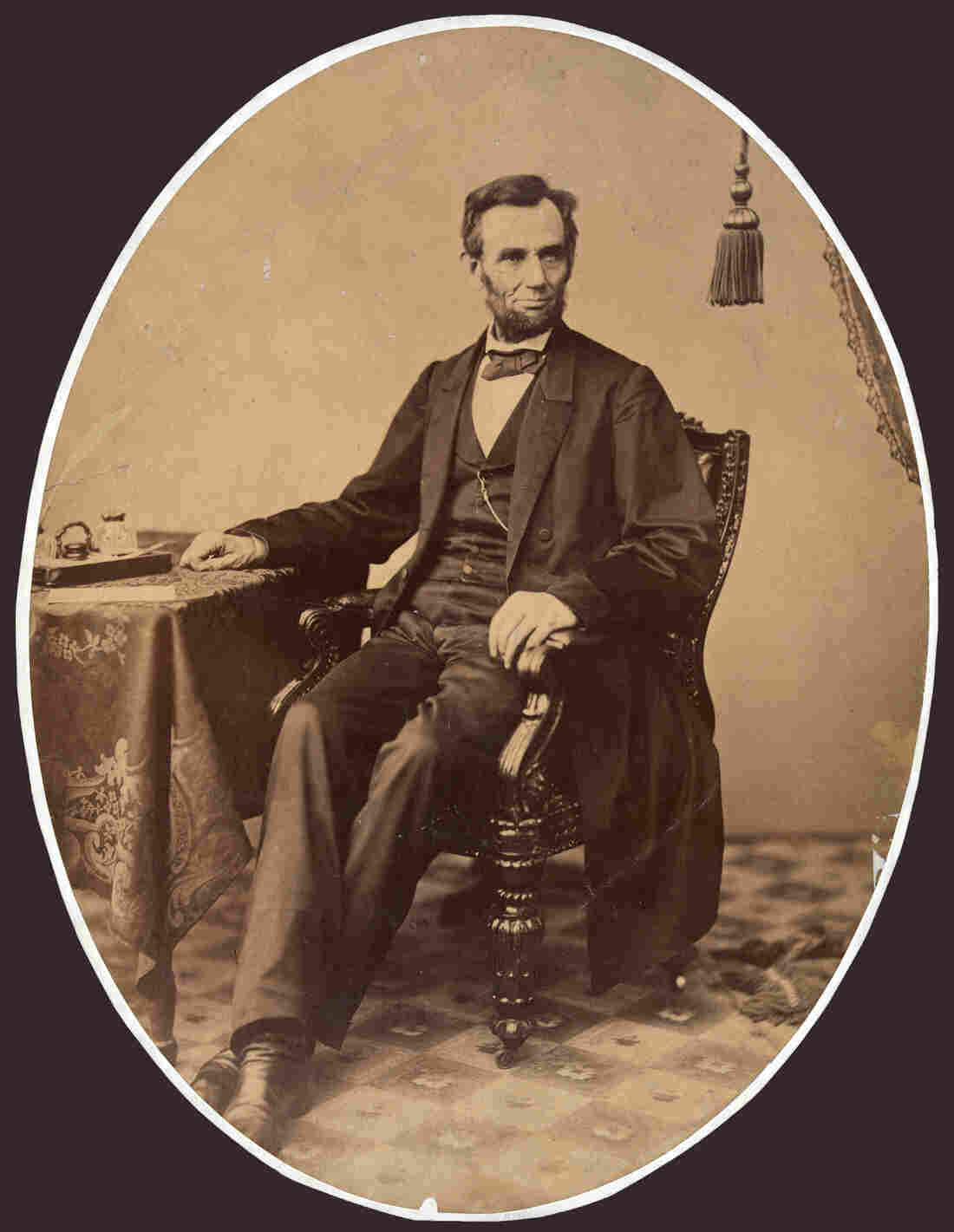 A little more than a week before he gave the Gettysbug Address, President Lincoln sat for this portrait.
