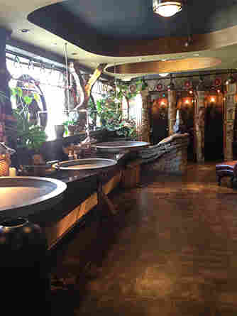 In the Game of Thrones, this is the winner: the fanciful restroom of the Varsity Theater in Minneapolis.