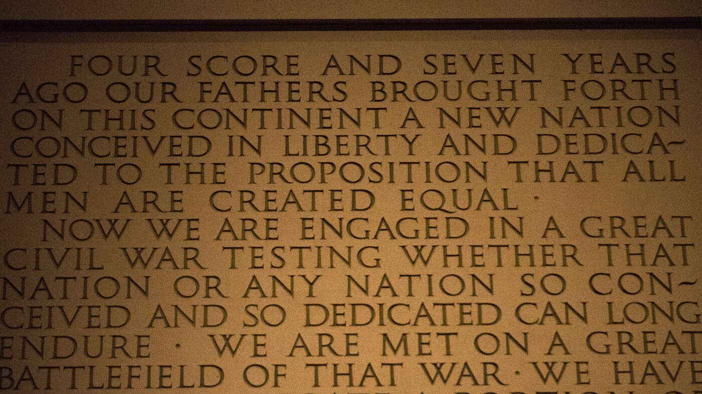 listen for its 150th a reading of the gettysburg address the two
