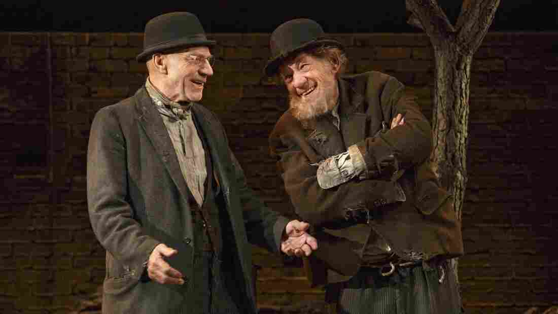 Patrick Stewart and Ian McKellen play Vladimir and Estragon in Waiting for Godot, one of two 20th-century classics they're doing in repertory this season on Broadway.