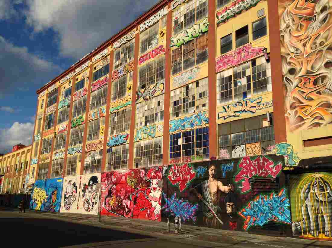 The walls of 5Pointz were once covered in graffiti. Artists worldwide came to New York to paint the warehouse surface.