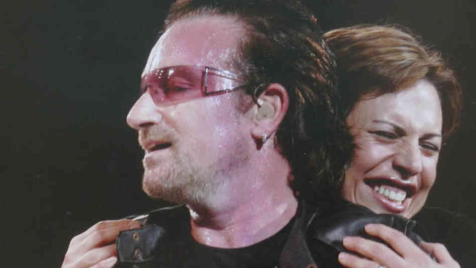 You don't get many opportunities to hug Bono — better do it right!