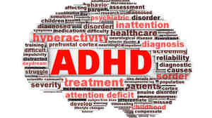ADHD symbol conceptual design isolated on white background.