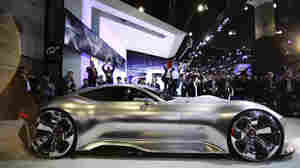 Mercedes-Benz introduced its AMG Vision Gran Turismo concept vehicle at the Los Angeles Auto Show this week. This is just a model of the car; the fully functioning version is virtual.
