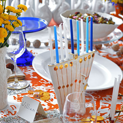 "Jewish tradition and Thanksgiving have even the importance of table-setting in common. The code of Jewish law, the schulchan oruch, means ""the set table."""