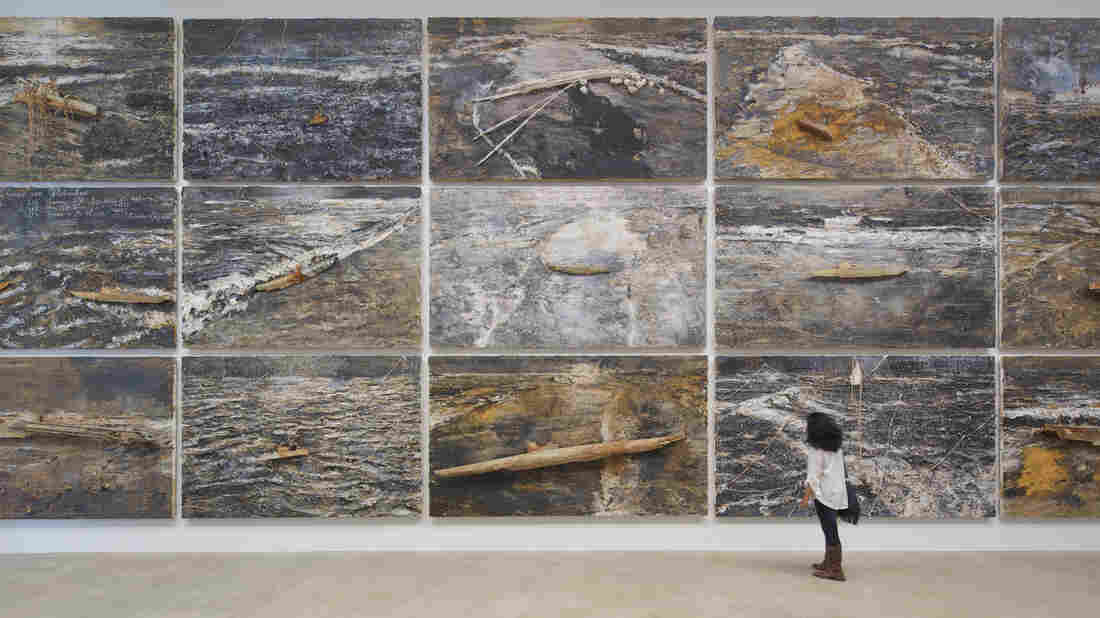 Anselm Kiefer's Velimir Chlebnikov, a series of 30 paintings devoted to the Russian philosopher who posited that war is inevitable, is on display at the Massachusetts Museum of Contemporary Art.