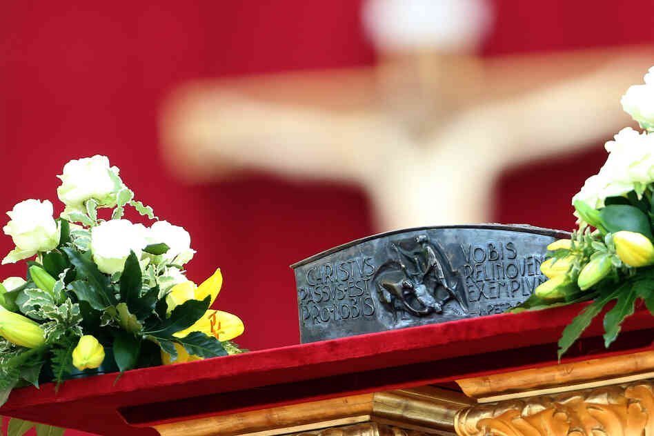 For the first time in nearly 2,000 years, relics of St. Peter the apostle (fragments of bone) are displayed for veneration.