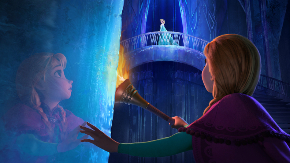 The new Disney film <em>Frozen</em> is the tale of sisters Anna and Elsa, whose relationship is captured in music by songwriters Robert Lopez and Kristen Anderson-Lopez. (Courtesy of Walt Disney Pictures)