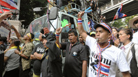 Anti-government protesters in Bangkok. Thailand, march Monday against the government of Prime Minister Yingluck Shinawatra.