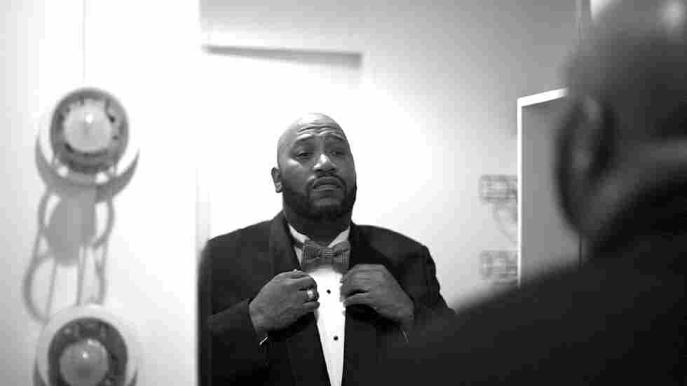 Bun B getting ready to take the stage with the Houston Symphony two days after this interview took place.