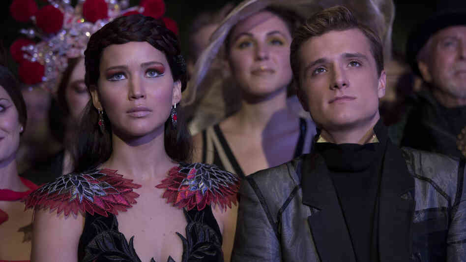 Katniss and Peeta in Catching Fire