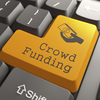 """A """"Crowd Funding"""" button on a computer keyboard"""