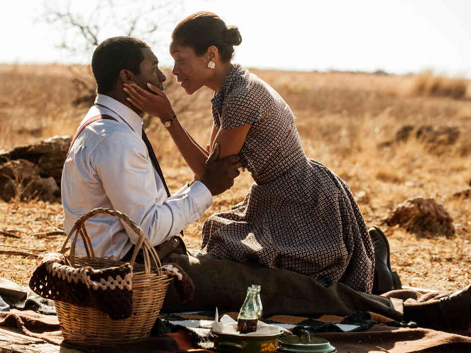 Naomie Harris plays the role of Mandela's second wife, Winnie Mandela, and the two of them spark some of the film's best and most complex moments.