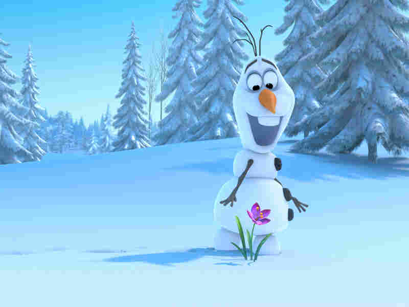 Olaf, a snowman who can't quite keep his head on straight, joins Anna for the adventure — and some comic relief. He's voiced by The Book of Mormon's Josh Gad.