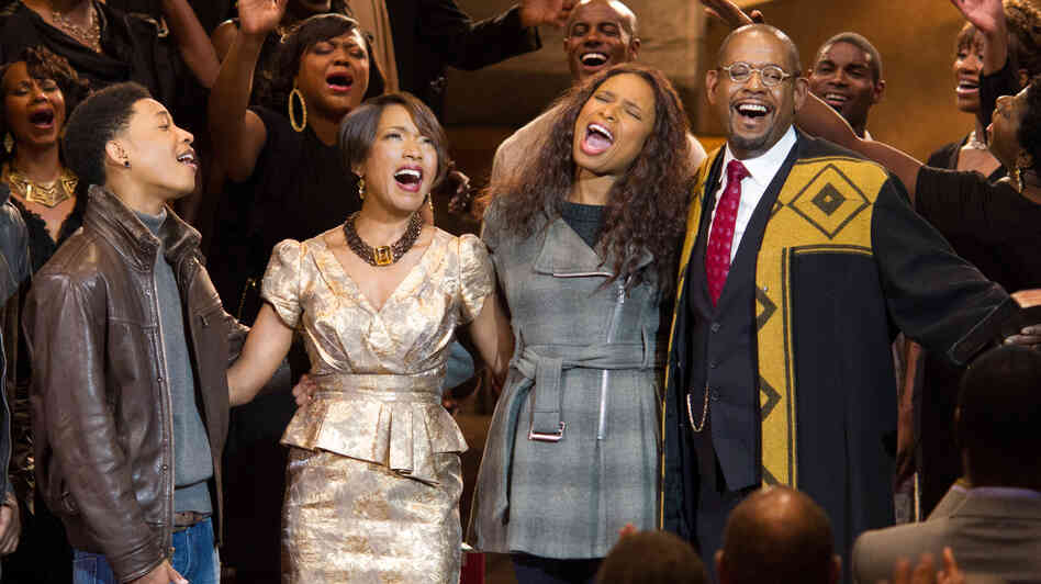 Jacob Latimore (from left), Angela Bassett, Jennifer Hudson and Forest Whitaker power through the season in Kasi Lemmons' Black Nativity, a Christmas movie musical based on Langston Hughes' gospel oratorio.