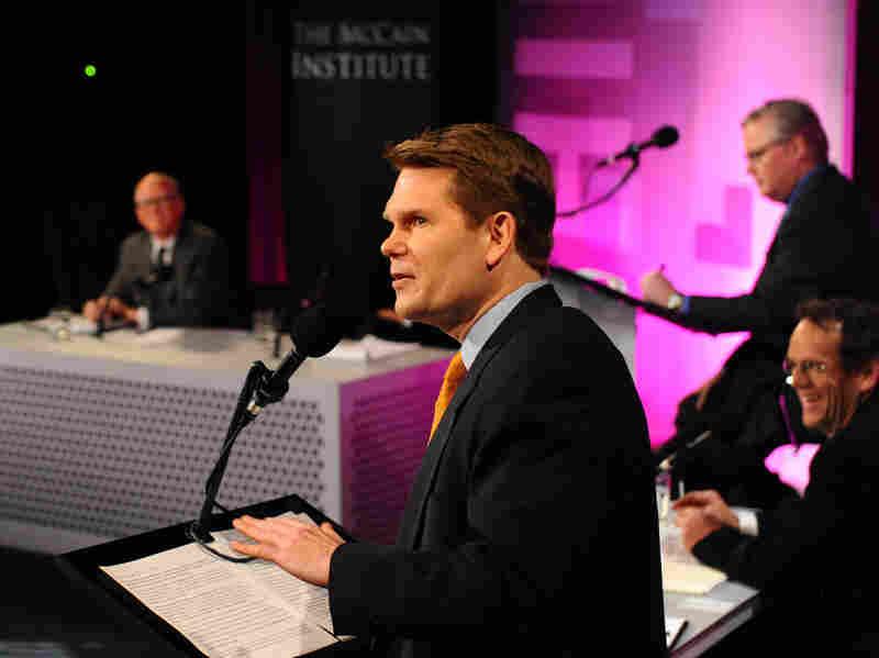 "Michael German argues against the motion ""Spy On Me, I'd Rather Be Safe."""