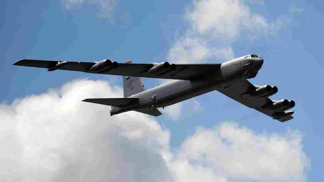 Jet diplomacy: A B-52. According to reports, two flew through an area that China now claims is within its air defense zone.