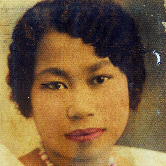 Fausta Reyes Ramil, Melanie's grandmother, at age 22. She emigrated to the U.S. from the Philippines in 1956.