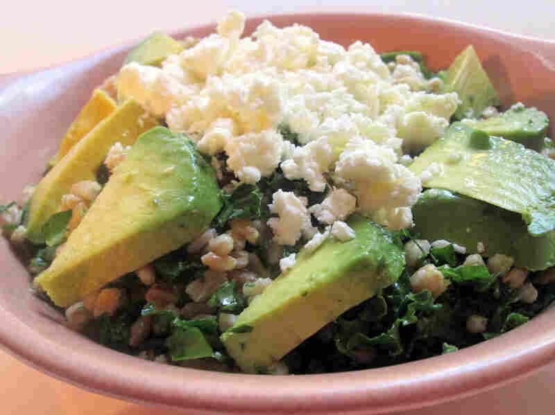 Farro Salad With Lemon, Avocado And Pistachios