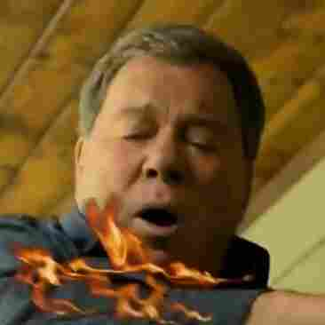 Don't try this at home: Actor William Shatner in State Farm's Eat, Fry, Love: A Cautionary Remix video about how to safely fry a turkey.