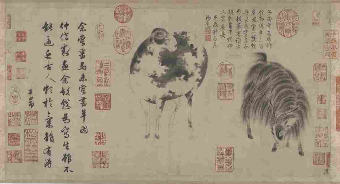 Zhao Mengfu was the preeminent painter and calligrapher of the early Yuan dynasty (1279-1368). His Sheep And Goat scroll is estimated to be worth $100 million.