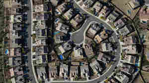 New research suggests that increasing numbers of people want to live among those who share their politics. In this April 2010 photo, an aerial view of a Tucson, Ariz., housing development.
